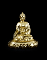 Medicine Buddha Gold Plated Resin 2 inch