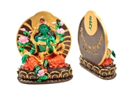 Hand Painted Green Tara Resin Statue 6 inches