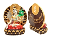 Hand Painted White Tara Resin Statue 6 inches