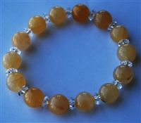 Yellow Topaz & Quartz Bracelet 10MM