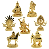The Seven Precious Jewels Gold Plated Statue Set