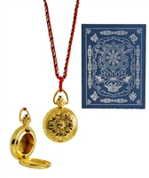 Yellow Dzambhala Mantra Gau / Locket choice of Gold or Silver Plated