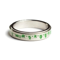 Green Tara Mantra Spinning Ring