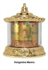Gold Plated Ksitagharba Mantra Table Top Prayer Wheel