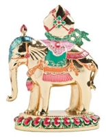 Gold Plated Hand Painted Precious Elephant