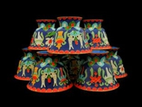 Medium 8 Auspicious Symbols Cloisonne Offering Bowls Two Color Choices