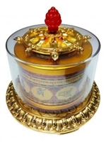 Large Gold Plated Vajrasattva Table Top Prayer Wheel