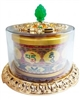 Larger Gold Plated Chenrezig Mantra Table Top Prayer WheelLarger Gold Plated Chenrezig Mantra Table Top Prayer Wheel