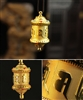 Om mani Padme Hum Prayer Wheel Pendant with Mantras 5 Color Choices