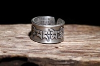 Sterling Silver Heart Sutra Ring
