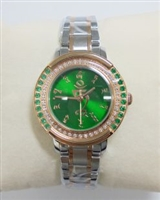Emerald Studded Quartz Green Tara Watch