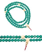 Tibetan Turquoise & Snow Crystal  Mala - 108 Beads 8mm