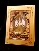 Sitatapatra Meditation Card Traveling Alter Frame Included