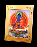 Medicine Buddha Meditation Card Traveling Alter Frame Included