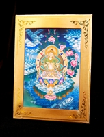 Vajrasattva Meditation Card Traveling Alter Frame Included