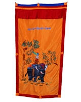 Hand Embroiderded Four Friends Door Curtain