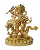 White Dzambhala Gold Plated  - 4 Inch