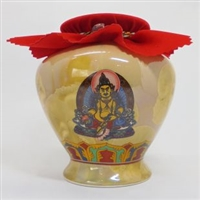 Large Yellow Dzambhala Treasure Vase