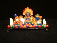 Horizontal All In One Hand Painted Eight Auspicious Symbols 7 Inches