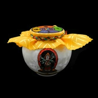 White Mahakala Treasure Vase