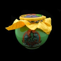 Green Tara Treasure Vase