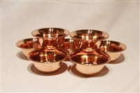 Polished Copper Offering Bowls