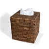 Square Tissue Box  - Antique Brown 5.75x6.25'H