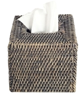Tissue Box Square Woven Rattan - Grey Wash 5.75x6.25' (Min. 2)