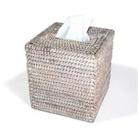 "Square Tissue Box - WW  5.75x6.25""H.."