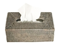 Tissue Box Rectangular Woven Rattan - Grey Wash 10.5x5.75x4.25' (Min. 2)