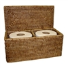 Double Toilet Paper Holder - AB 12x5.75x5.75'H