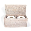 "Double Toilet Paper Holder -WW 12x5.75x5.75""H.."