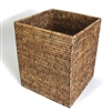 "Square Waste Basket  - AB 9x9x10.5""H.."