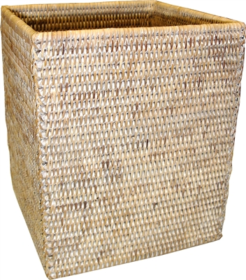 "Square Waste Basket - WW 9x9x10.5""H.."