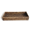 "Rectangular  Bath Tray - AB 12.5x6x2""H.."