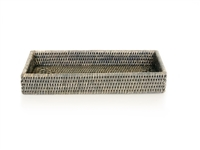 "Bath Tray Rectangular WVR - Grey Wash 13x6x2"" (Min. 2).."