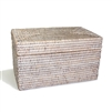 Rectangular Storage Basket  with Lid  - WW 11.5x7x6.5'H