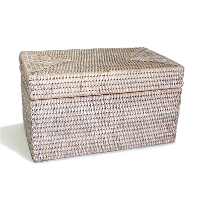 "Rectangular Storage Basket  with Lid  - WW 11.5x7x6.5""H.."