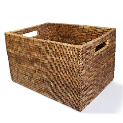 "Rectangular Open Storage Basket  - AB 16x10x9.5""H.."