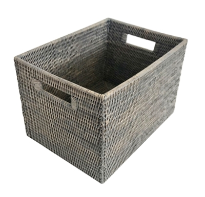 "Rectangular Open Storage Basket  - GW 16x10x9.5""H.."