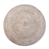 "Round Placemat - White Wash 15"".."