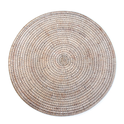 Round Placemat - White Wash 15'