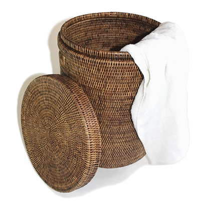 "Round Laundry Hamper  (Small) - AB 14x20""H.."