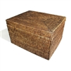"Rectangular Storage Basket with removable lid - AB 18.5x15x11.5""H.."