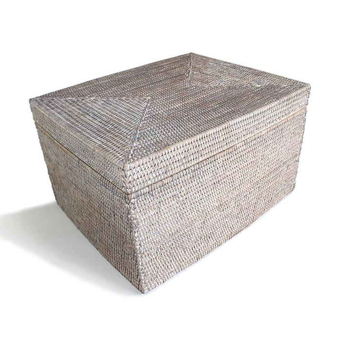 rattan basket small from storage box.htm rectangular storage basket with removable lid ww 18 5x15x11 5 h  rectangular storage basket with