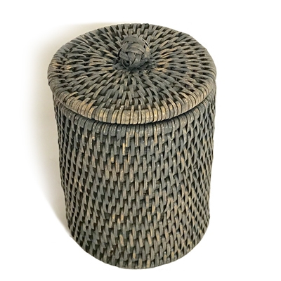 "Bath Container Large w/ Knot WVR - Grey Wash 4.5x6"" (Min. 2).."