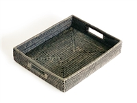 Rectangular Tray - Grey Wash 15x12x2.75'H