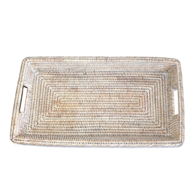"Rectangular Platter Tray - WW 21.5x12x2.5""H.."