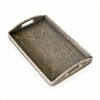 "Tray Morning Rectangular Large WVR - Grey Wash 20.5x13.5x3"" (Min. 2).."