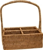 "Rectangular  Condiment Basket with Handle  - AB 10x7x4(12)""H"